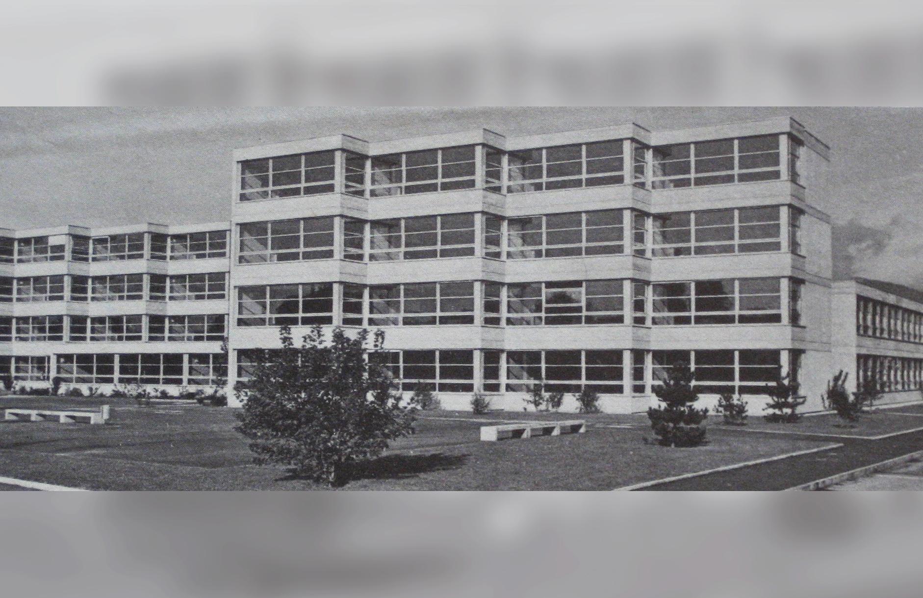 Collège Léon-Michaud, Yverdon, 1975.